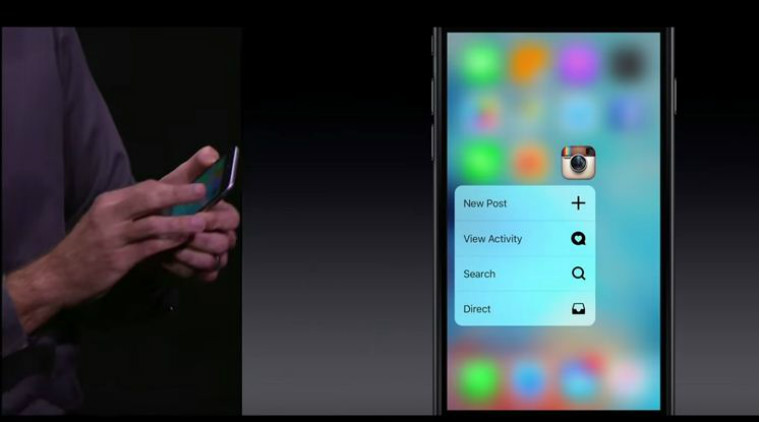 instagram force touch