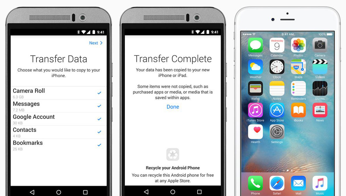 Phone Transfer From Iphone To Android Phone how to easily transfer data from android ios one click root erase your device go settings general reset all content and settings
