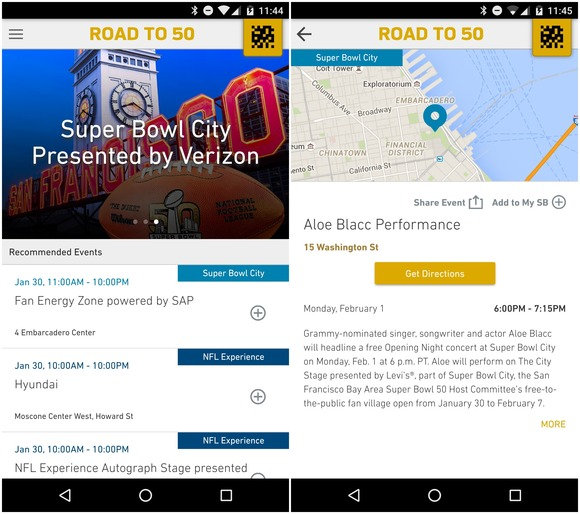 superbowl 50 android app 2