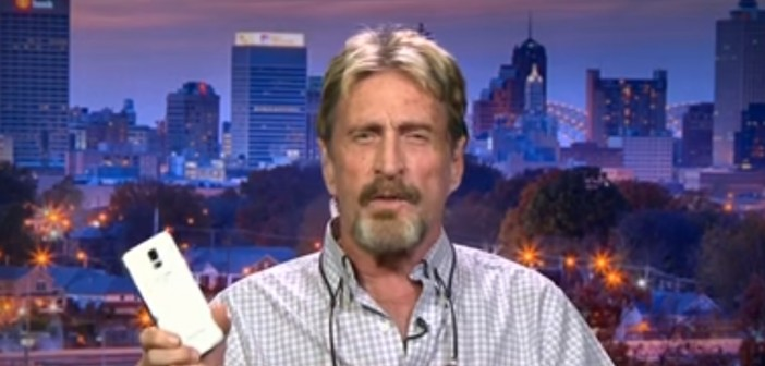 """John McAfee Unveils a New """"Truly Private"""" Smartphone"""