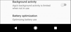 Limiting Apps' Background Activity in Android Oreo