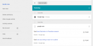 "Google Stores Audio Files of All Your ""OK Google"" Requests – and You Can Listen to Them Online"