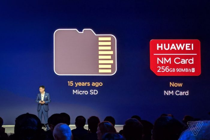 "Huawei Mate 20 uses new ""Nano Memory"" instead of MicroSD"